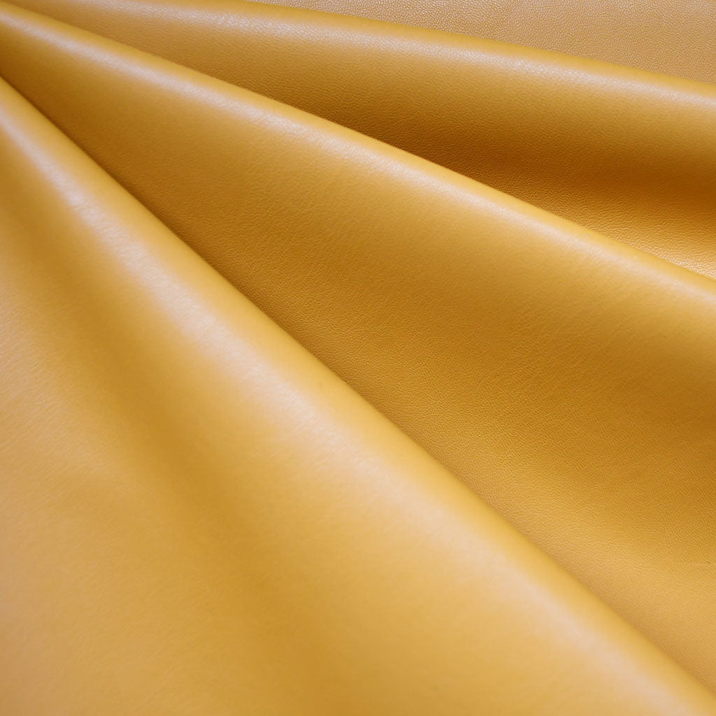 Soft Faux Leather Solid Mustard - Fabric - Style Maker Fabrics