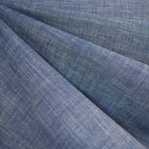 Slub Chambray Shirting Blue