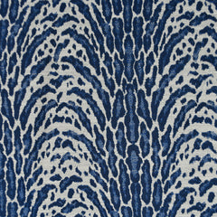 Animal Print Jacquard Suiting Blue/Cream - Fabric - Style Maker Fabrics