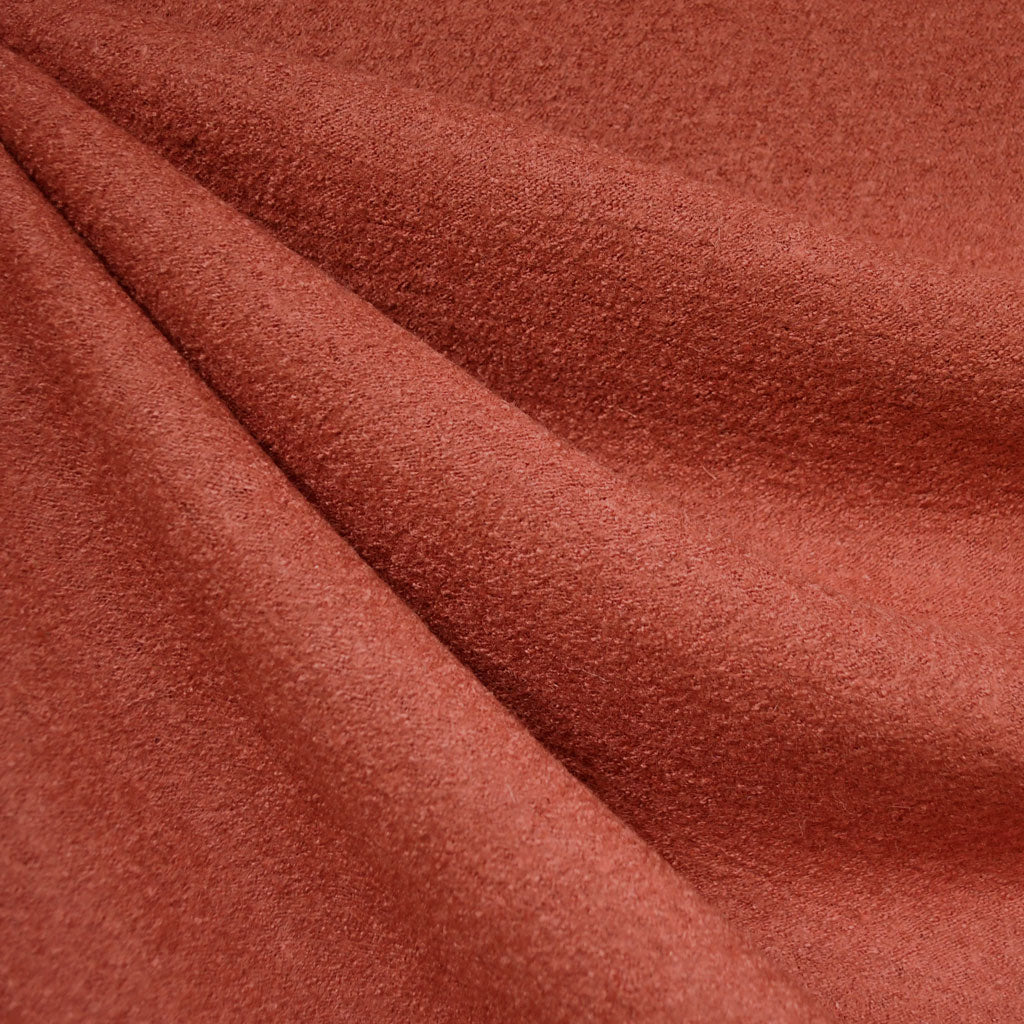 Boiled Wool Blend Coating Terracotta - Fabric - Style Maker Fabrics