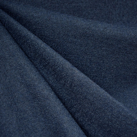Boiled Wool Blend Coating Navy