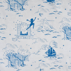 Neverland Second Star Toile Jersey Knit Blue - Fabric - Style Maker Fabrics