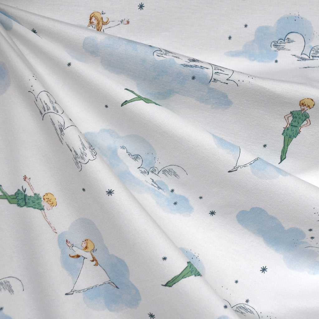 Neverland Peter and Wendy Jersey Knit Blue - Fabric - Style Maker Fabrics
