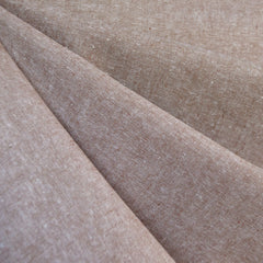 Essex Yarn Dyed Linen Blend Mocha - Fabric - Style Maker Fabrics