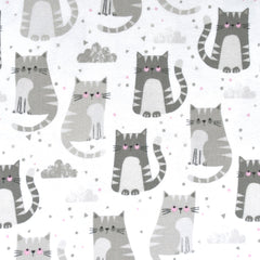 Cuddly Kittens Flannel Greys - Fabric - Style Maker Fabrics