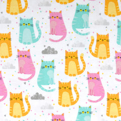 Cuddly Kittens Flannel Multi - Fabric - Style Maker Fabrics
