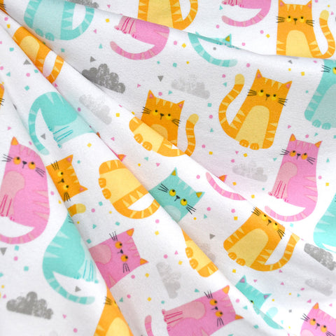 Cuddly Kittens Flannel Multi