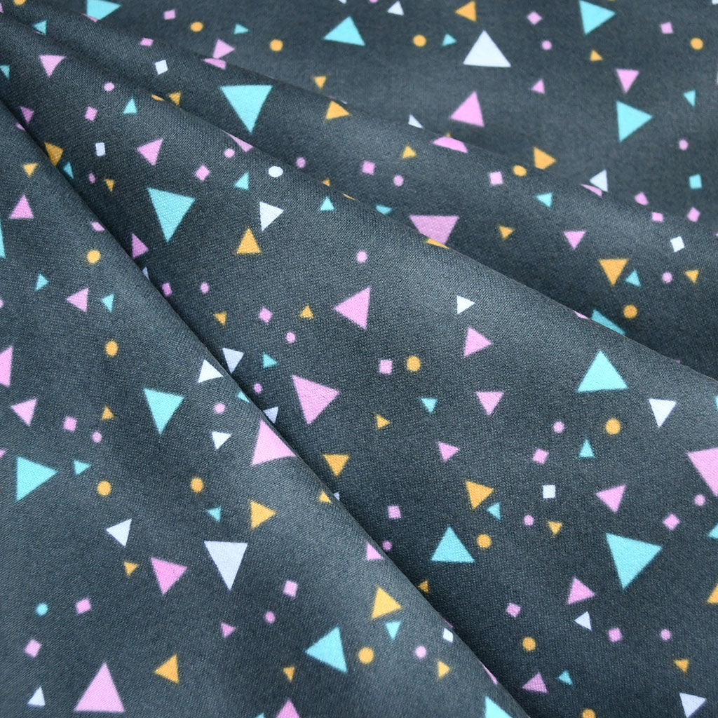 Cuddly Confetti Dot Flannel Charcoal - Fabric - Style Maker Fabrics