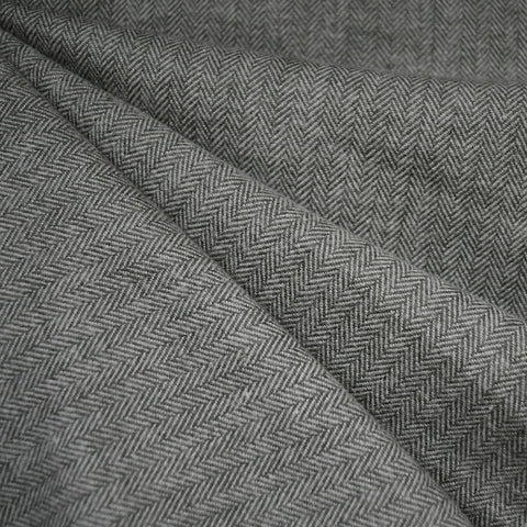 Cozy Cotton Flannel Herringbone Texture Grey