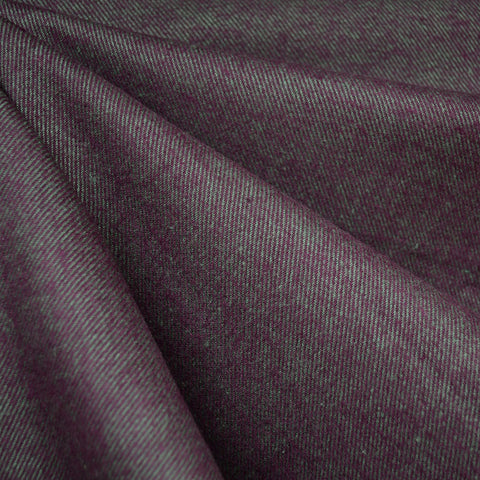 Cozy Cotton Flannel Cross Woven Texture Plum/Aqua