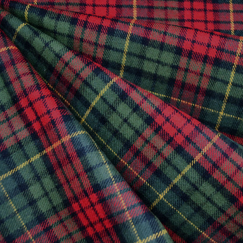 Cozy Cotton Flannel Tartan Plaid Green/Red