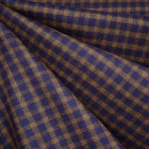 Cozy Cotton Flannel Check Plaid Brown/Rust SY