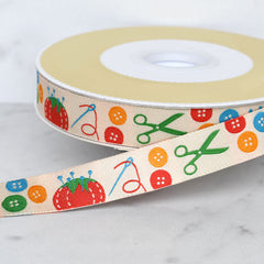 Sewing Themed Woven Jacquard Ribbons - Trim - Style Maker Fabrics