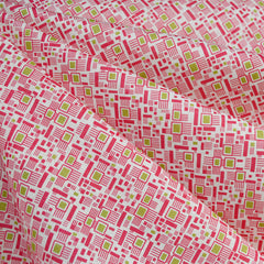 Colorful Mosaic Cotton Lawn Fuchsia/Lime - Fabric - Style Maker Fabrics