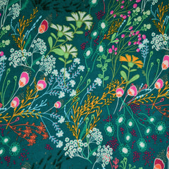 Indie Folk Meadow Rayon Teal/Multi - Sold Out - Style Maker Fabrics
