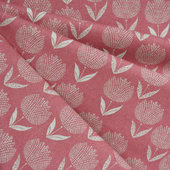 Japanese Dot Floral Canvas Rose/Natural - Fabric - Style Maker Fabrics