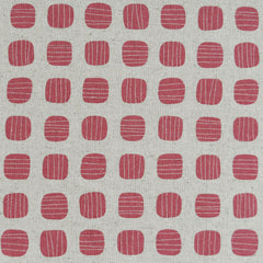 Japanese Stripe Dot Canvas Rose/Natural - Fabric - Style Maker Fabrics