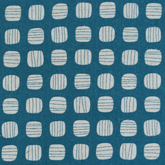 Japanese Stripe Dot Canvas Turquoise/Natural SY - Sold Out - Style Maker Fabrics