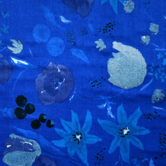Japanese Nani Iro Fuccra Floral Double Gauze Royal - Fabric - Style Maker Fabrics