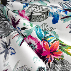 Tropical Escape Stretch Sateen Multi - Sold Out - Style Maker Fabrics