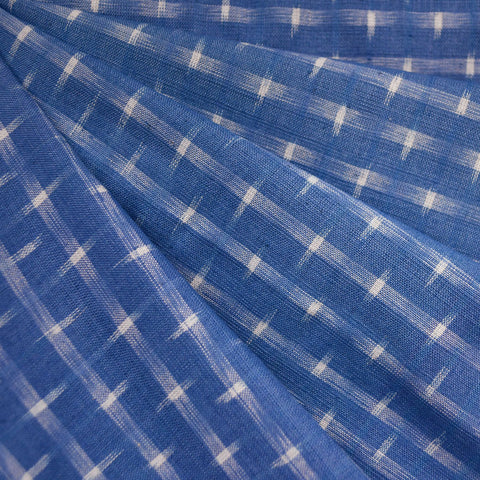 Double Ikat Shirting Periwinkle/Vanilla