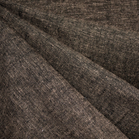 Brussels Washer Yarn Dye Linen Blend Espresso—Preorder