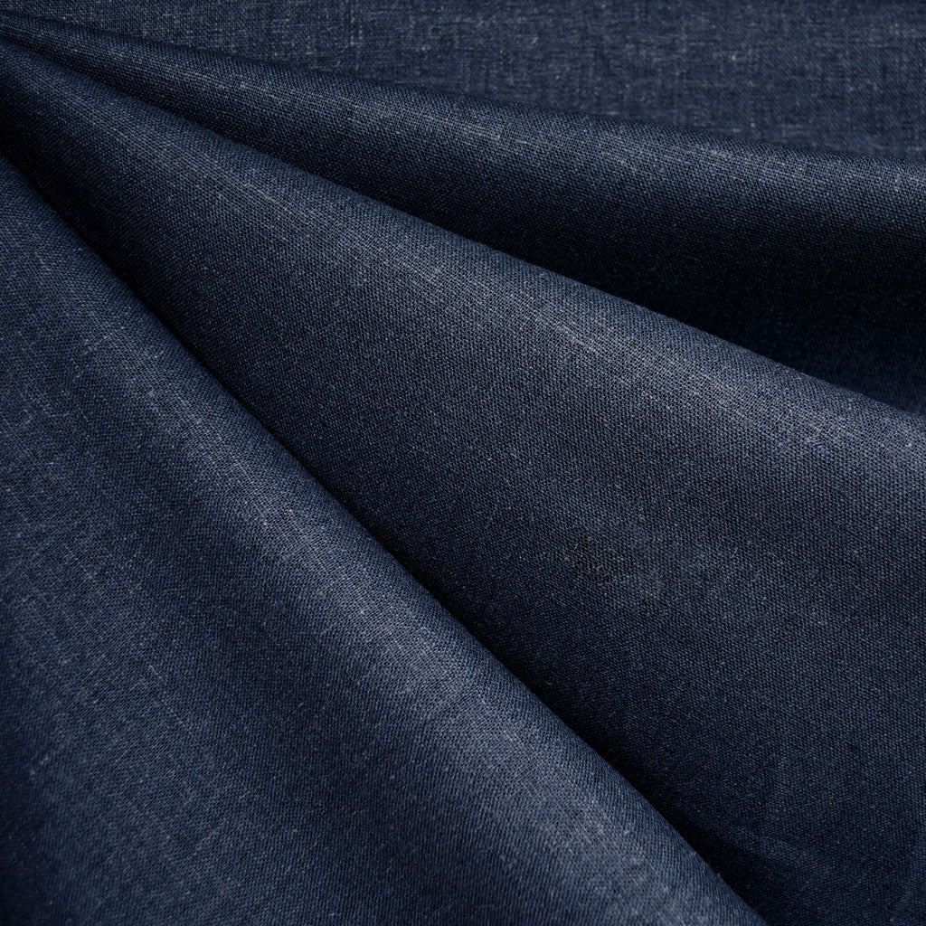 Brussels Washer Linen Blend Solid Indigo SY - Sold Out - Style Maker Fabrics