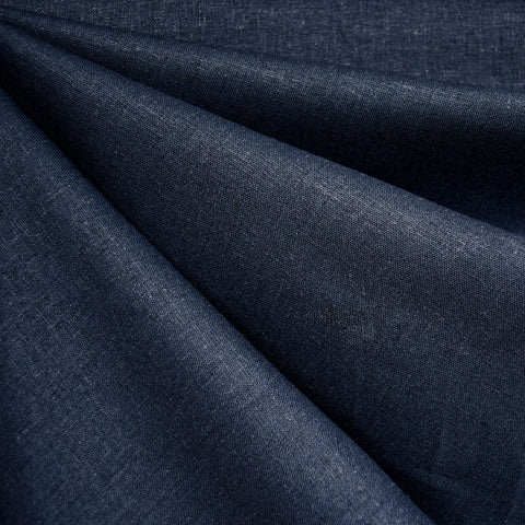 Brussels Washer Linen Blend Solid Indigo