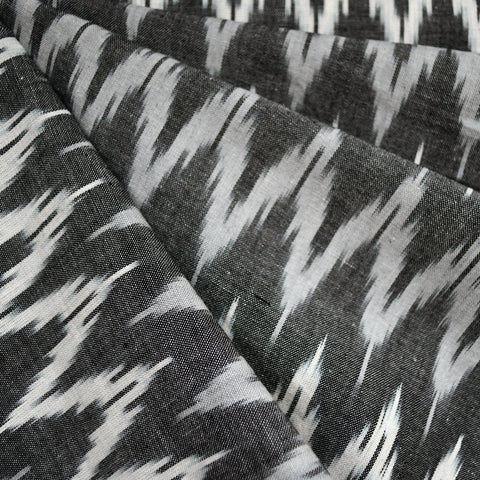 Tonal Chevron Ikat Shirting Black/Grey/Vanilla