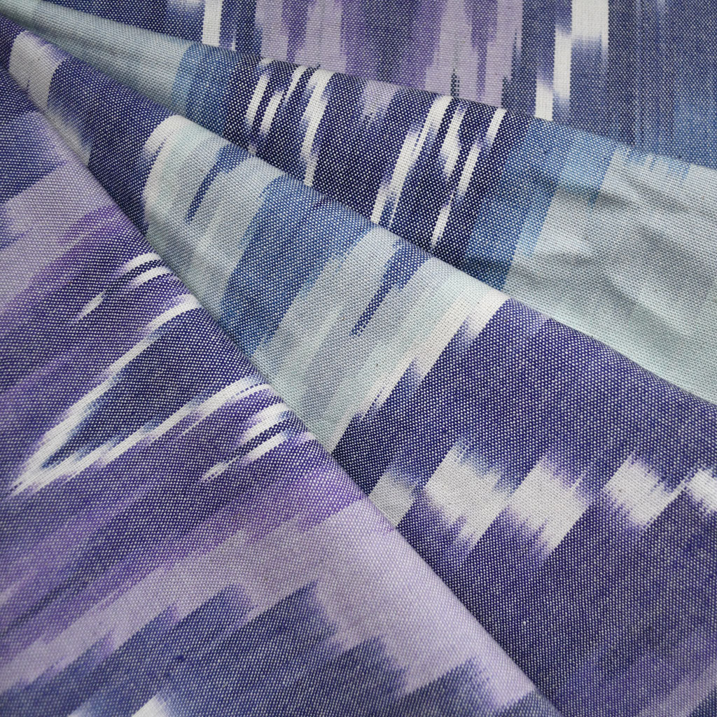 Large Scale Chevron Ikat Light Canvas Lavender - Fabric - Style Maker Fabrics