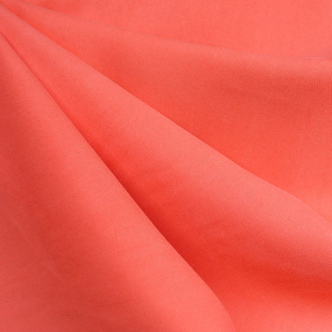 Soft Tencel Twill Solid Coral