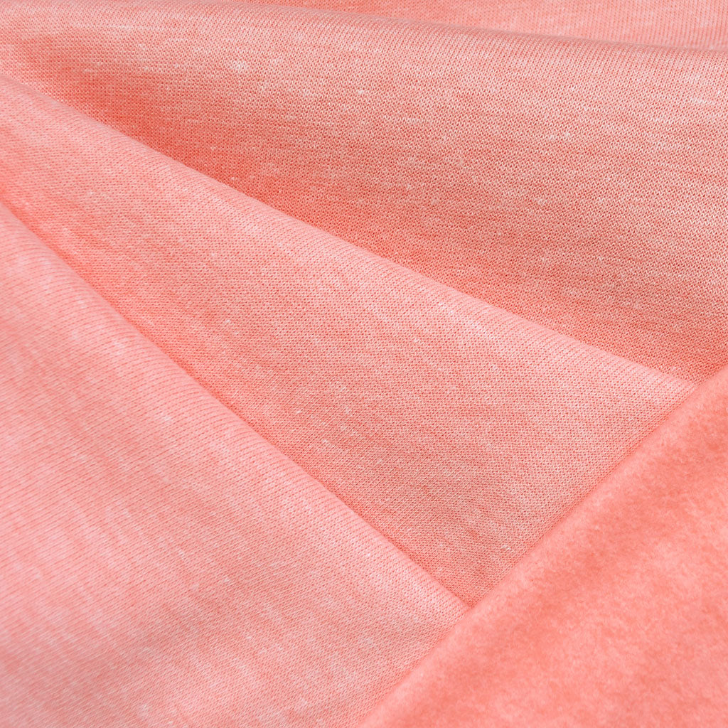 Sweatshirt Fleece Heather Coral - Sold Out - Style Maker Fabrics
