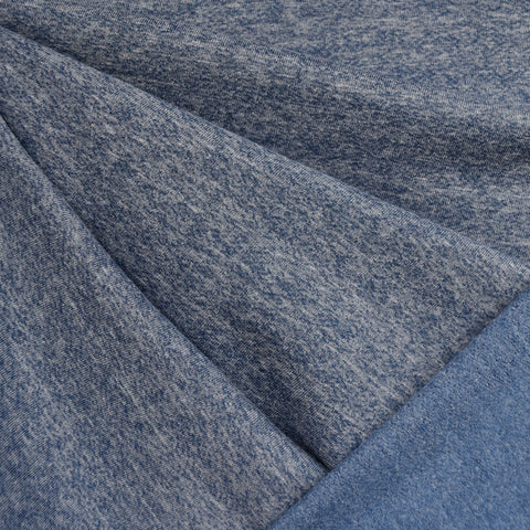 Heathered Sweatshirt Fleece Blue