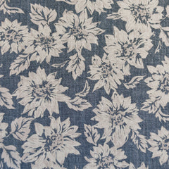 Distressed-Look Sunflower Denim Suiting Chambray/Natural - Fabric - Style Maker Fabrics