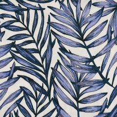 Tonal Bamboo Leaves Rayon Crepe Periwinkle/Vanilla - Sold Out - Style Maker Fabrics