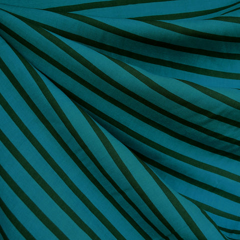 Pencil Stripe Rayon Turquoise/Teal
