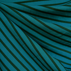 Pencil Stripe Rayon Turquoise/Teal - Fabric - Style Maker Fabrics