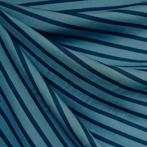 Pencil Stripe Rayon Denim/Navy