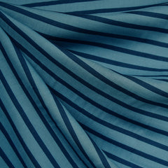 Pencil Stripe Rayon Denim/Navy - Fabric - Style Maker Fabrics