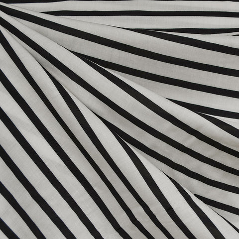 Pencil Stripe Rayon Cream/Black