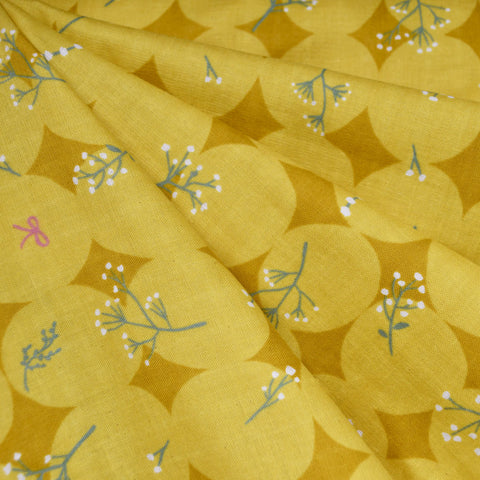 Japanese Paper Flower Double Gauze Yellow