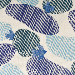 Japanese Soaring Skies Double Gauze Cream/Blue SY - Sold Out - Style Maker Fabrics