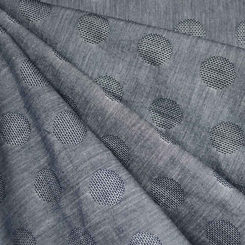 Japanese Dot Texture Shirting Heather Indigo