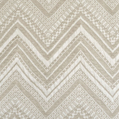 Chevron Jacquard Cotton Double Knit Cream SY - Selvage Yard - Style Maker Fabrics