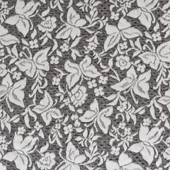 Butterfly Jacquard Double Knit Cream/Black - Fabric - Style Maker Fabrics