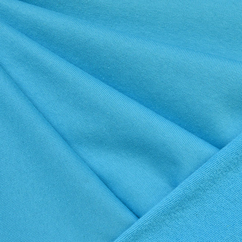 Soft Cotton Terry Velour Solid Turquoise