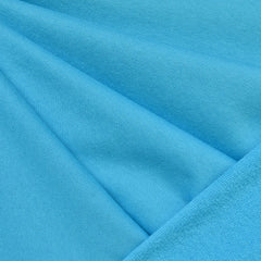 Soft Cotton Terry Velour Solid Turquoise SY - Sold Out - Style Maker Fabrics