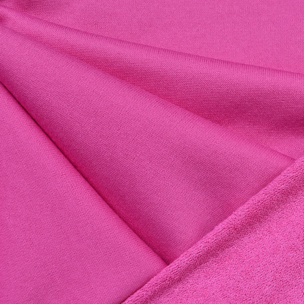 Soft Cotton Terry Velour Solid Pink - Fabric - Style Maker Fabrics