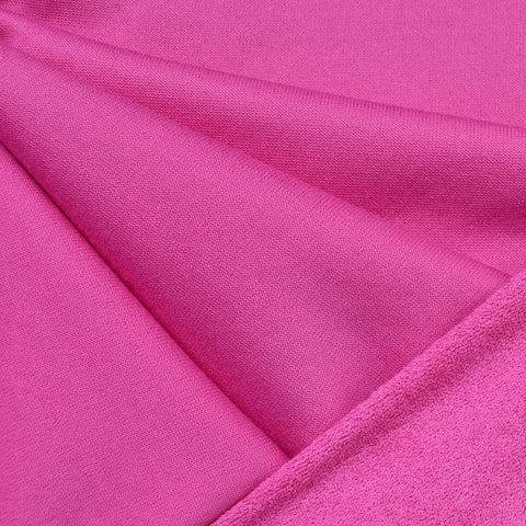 Soft Cotton Terry Velour Solid Pink SY