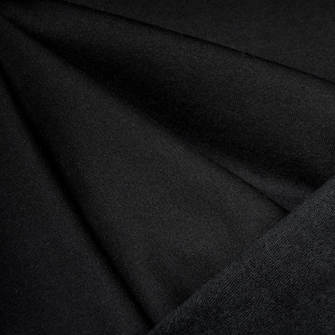 Soft Cotton Terry Velour Solid Black